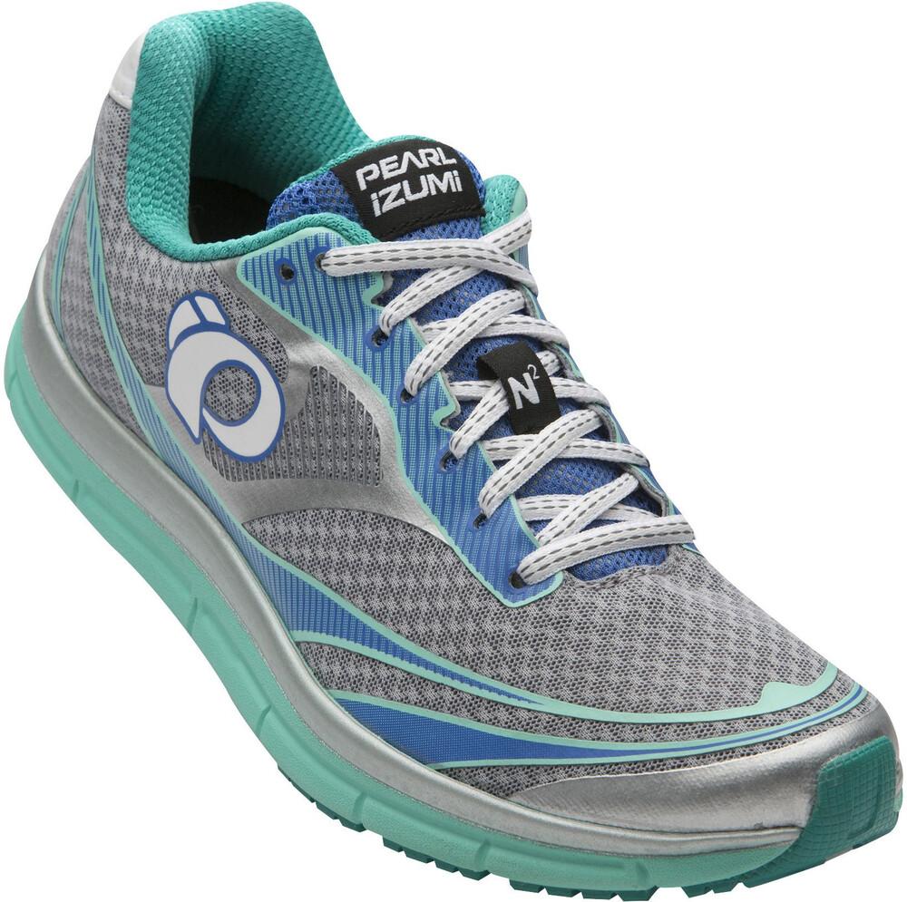 Pearl Izumi Em Route V3 Chaussures Running N2 Femme Gris / Turquoise Nous 8.0 VT3ZIBXyx